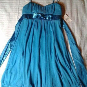 Ruby Rox Turquoise Party Dress S NWT @#